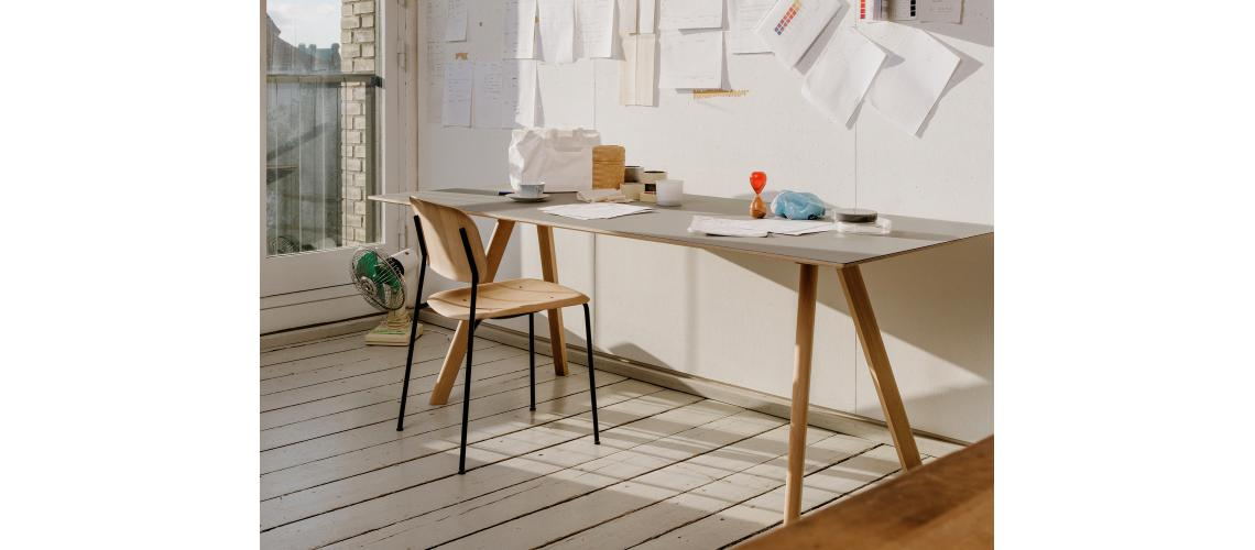 bureau Copenhague desk pyramid chair hay
